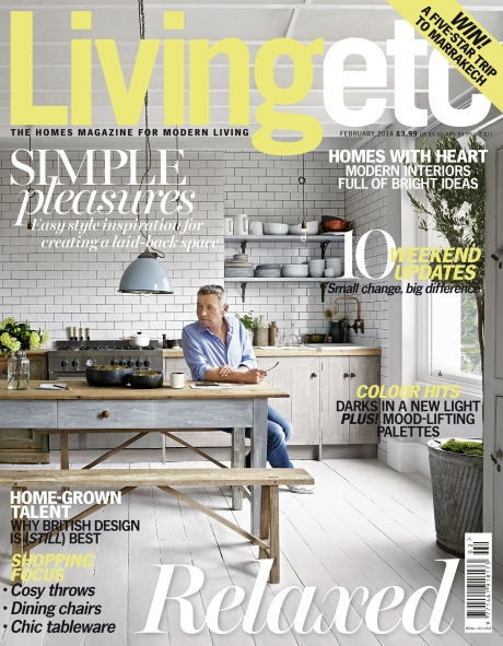 Metro-clad kitchen graces Living Etc's front cover