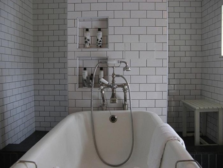 From Remodelista blog, industrial style bathroom